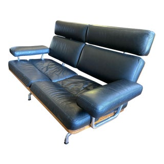 Eames Black 2-Seat Sofa For Sale