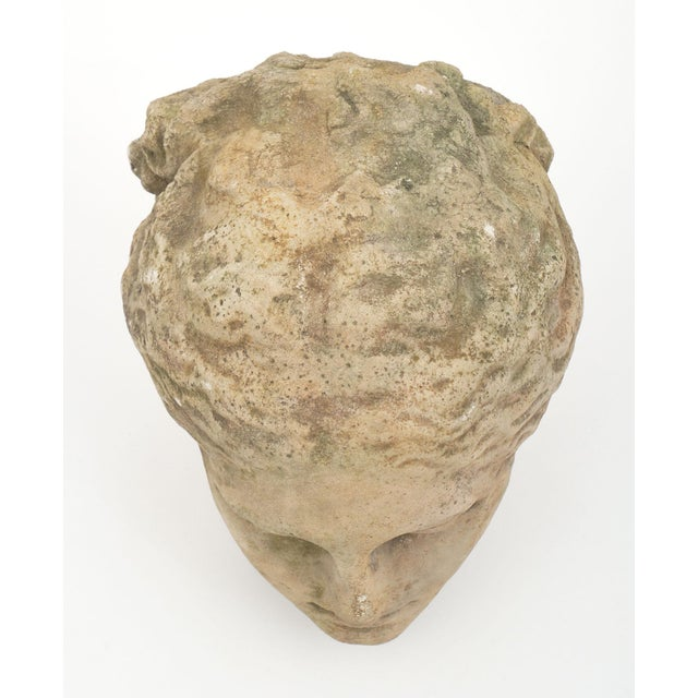 Antique stone bust of Athena. This piece made of reconstituted stone takes the form of Greek goddess Athena. We love the...