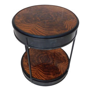Theodore Alexander Bronze & Mahogany Accent Table For Sale