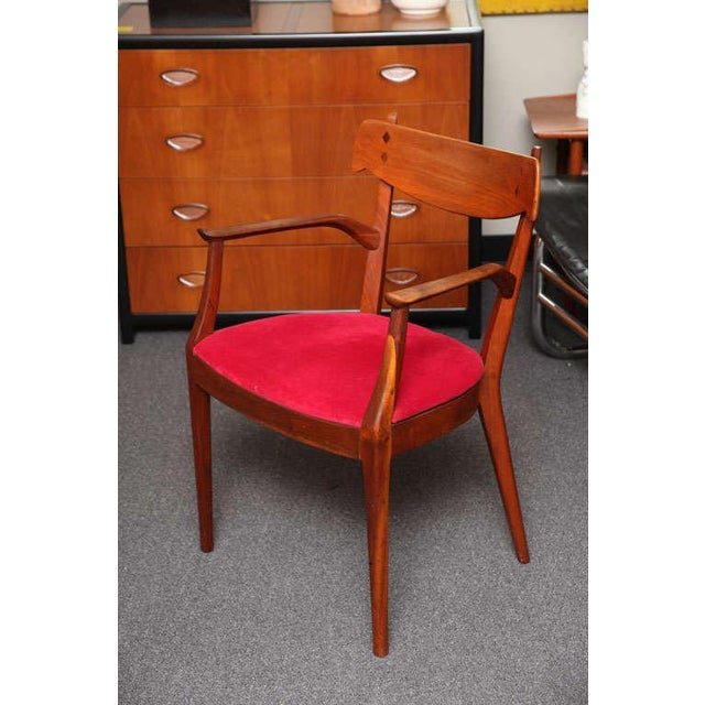 "Mid Century Modern 6 Drexel ""Declaration"" Line Walnut Dining Chairs. 1950s - Image 6 of 9"