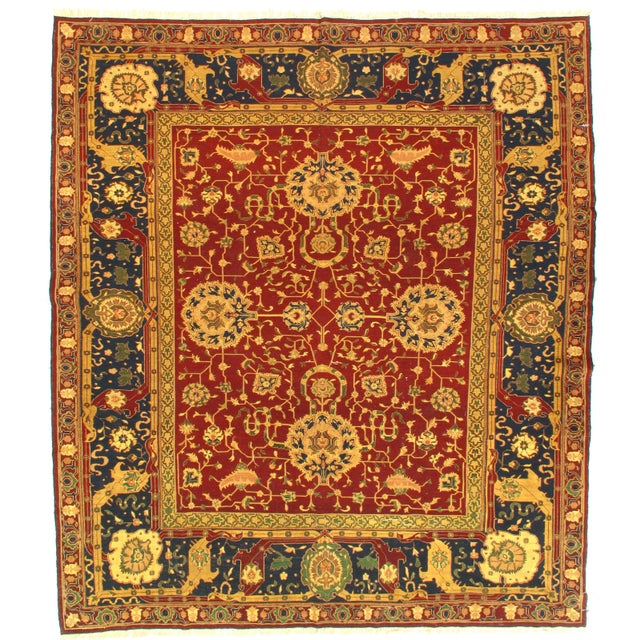 "2010s Traditional Pasargad N Y Sumak Sultanabad Design Hand-Knotted Rug - 7'9"" X 8'11"" For Sale - Image 5 of 5"