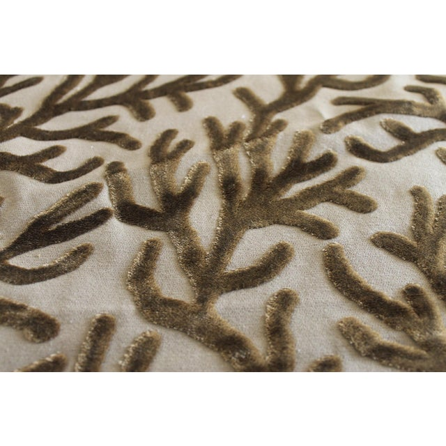 Brunschwig and Fils Reef Figured Velvet Fabric-3yds For Sale - Image 9 of 10