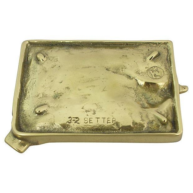 English 1940s Brass Setter Ashtray For Sale - Image 3 of 4