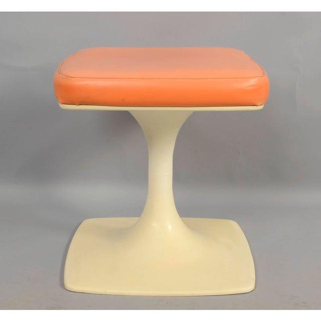 Eero Saarinen Tulip Based Stool Vanity Seat For Sale - Image 4 of 6