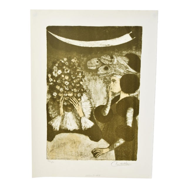 """Federico Castellon the Giddiest Grew Pale """"Mask of the Red Death"""" by Poe Lithograph For Sale"""