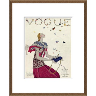 """""""Butterflies"""" Vintage Vogue Cover Bronze Framed Giclee Reproduction For Sale"""
