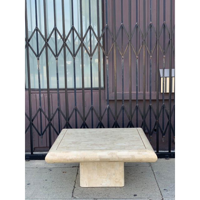 Tessellated Stone Tile Coffee Table For Sale - Image 4 of 12