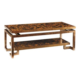 Contemporary Oscar De La Renta Home by Century Furniture Tortoise Coffee Table For Sale