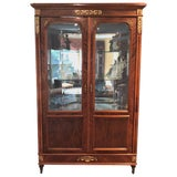 Image of Large 19th-Early 20th Century Antique French Empire Style Armiore Vitrine For Sale