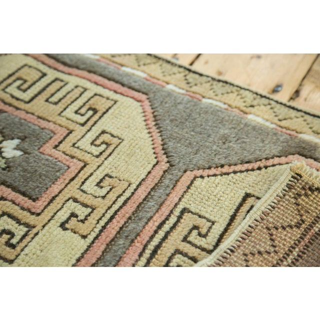 "Vintage Turkish Oushak Runner - 1'8"" x 2'9"" For Sale In New York - Image 6 of 6"
