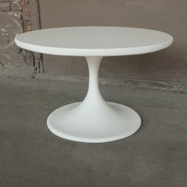 Cast Resin 'Spindle' Side Table, White Stone Finish by Zachary A. Design For Sale - Image 4 of 7