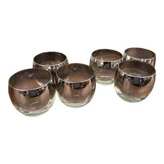 Vintage Dorothy Thorpe Silver Cocktail Glasses - Set of 6