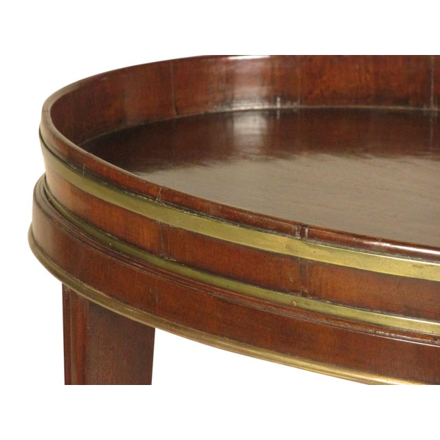 Metal 18th-C Mahogany Butler's Tray on Stand For Sale - Image 7 of 11