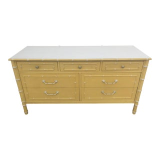 Thomasville Faux Bamboo Dresser For Sale