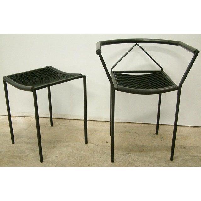 Maurizio Peregalli Zeus Chairs and Stool Set - 3 Pc. - Image 4 of 11