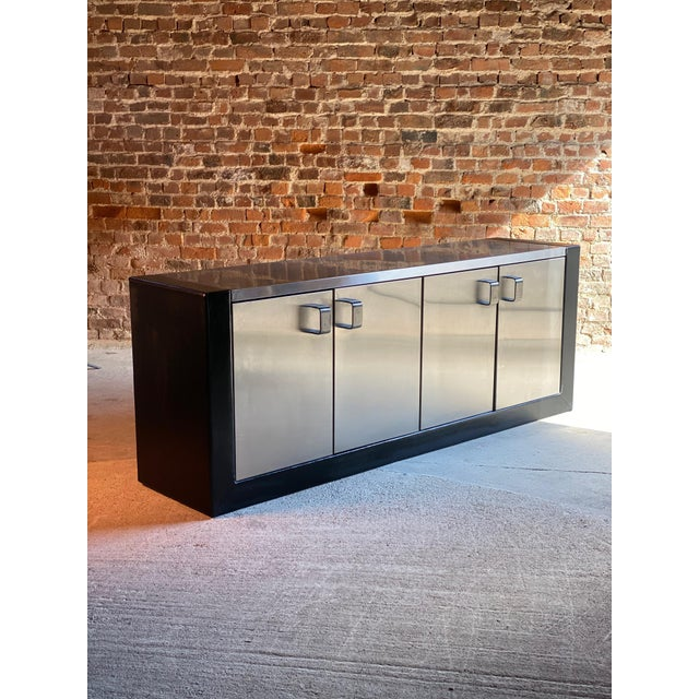 Paul Evans Custom Steel Sideboard Credenza, USA, circa 1970 For Sale - Image 6 of 13