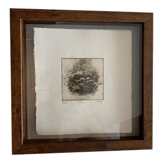 """""""Nest"""" Contemporary Minimalist Print, Framed For Sale"""