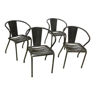 1960s Vintage Metal Dining Chairs- Set of 4 For Sale