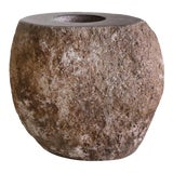 Image of Stone Candle Holder For Sale