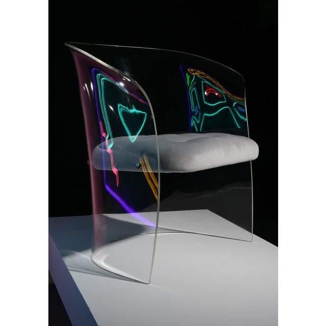 1960s 1960s Formed Lucite Chair With Tufted Seat, Pair Available For Sale - Image 5 of 12