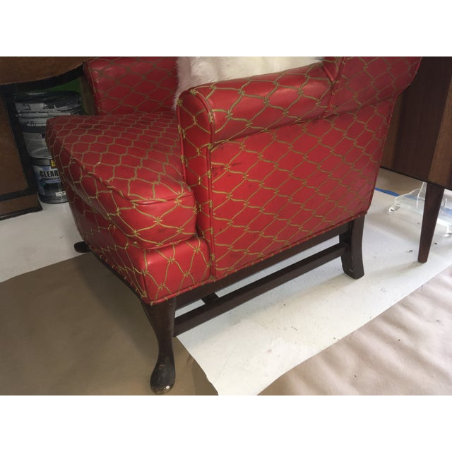 Tall Wingbacked Chairs- a Pair For Sale - Image 4 of 6
