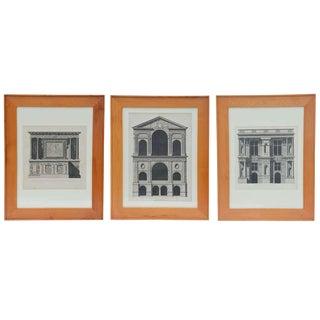 Set of Three Early 19th Century Architectural Prints by Louis-Pierre Baltard De La Fresque