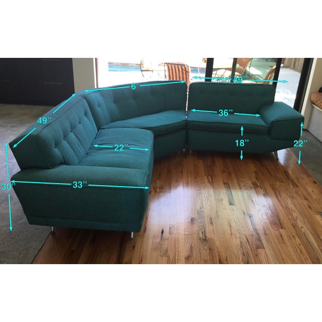 1950s Mid Century Sectional Sofa For Sale - Image 5 of 10