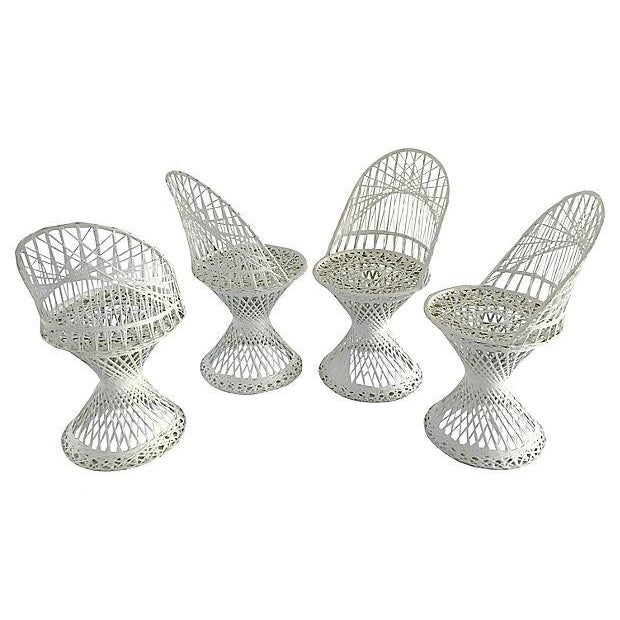 Russell Woodard Fiberglass Patio Set, S/5 For Sale - Image 5 of 5