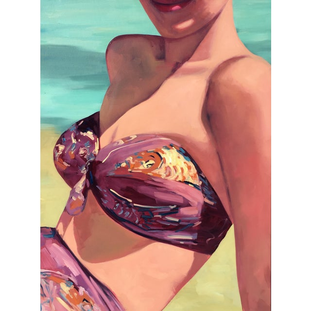 """Contemporary Figurative Painting """"Beach Girl"""" by T.S. Harris For Sale"""
