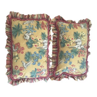 Scalamandre Custom Made Pillows - a Pair For Sale