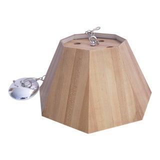 Retro Faux Wood Pendant Light For Sale