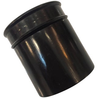 Hand-Carved Ebony Canister Jar With Screw Top For Sale