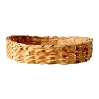 Vintage Oval Basket Tray For Sale