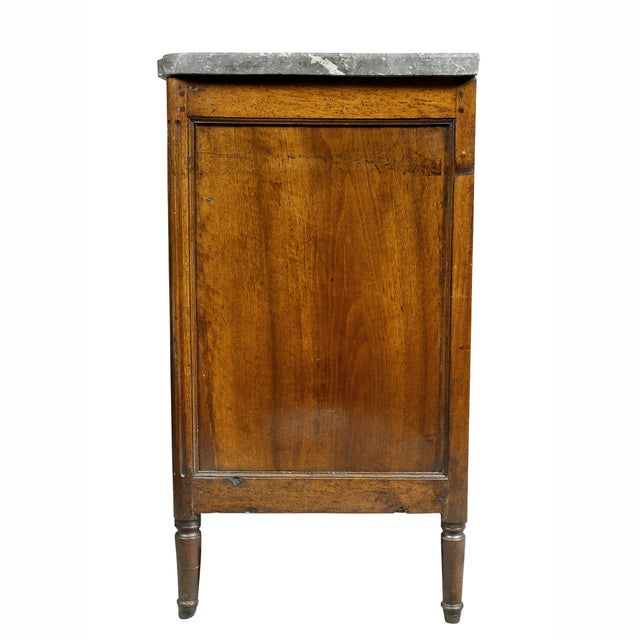 Gold Louis XVI Provincial Walnut Commode For Sale - Image 8 of 10