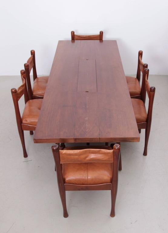 Stunning Large Mahogany Dining Table By Silvio Coppola, Bernini Italy, 1960s    Image 8
