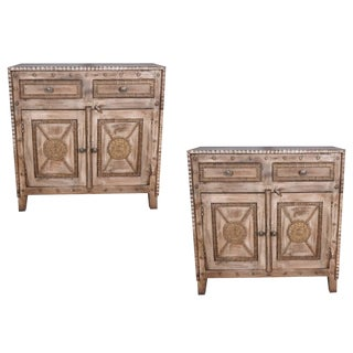 Contemporary Booker Mango Wood Sideboards - a Pair
