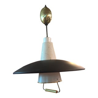 Mid Century Modern Gerald Thurston Pull Down Pendant Light for Lightolier For Sale