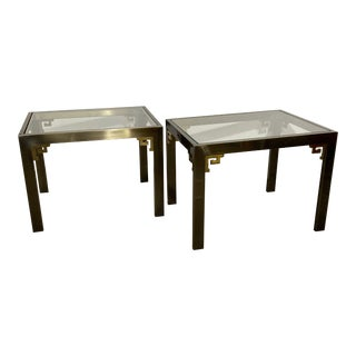 Design Institute America Glass End Tables - a Pair For Sale