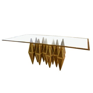 A brutalist dining table For Sale