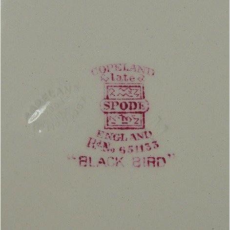 Spode Copeland Spode Black Bird Dinner Plates - Set of 6 For Sale - Image 4 of 7