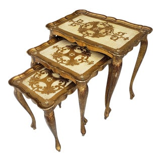 Vintage Italian Florentine Nesting Tables For Sale