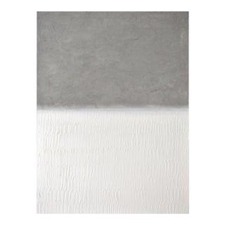 "Modern Painting - ""Abstract Concrete No. 4 White Field"" For Sale"