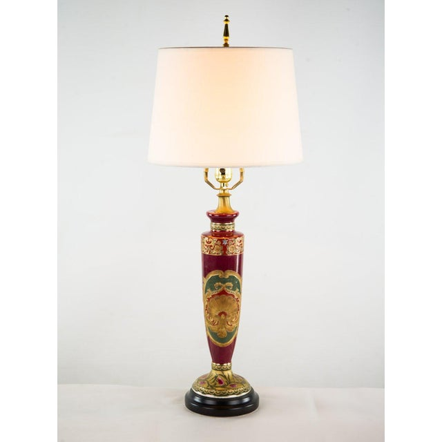 Antique Red Porcelain Vase Table Lamp For Sale - Image 11 of 11