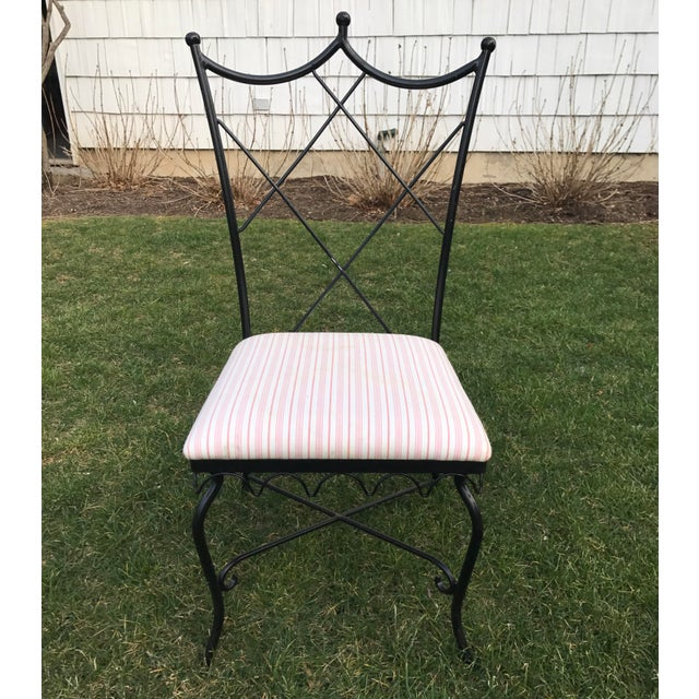 Vintage Outdoor Wrought Iron Chairs - Set of 6 - Image 5 of 5