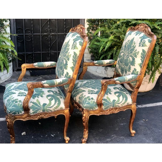 Minton-Spidell Mariano Fortuny Louis XVI Bergere Chairs - a Pair For Sale In Los Angeles - Image 6 of 8