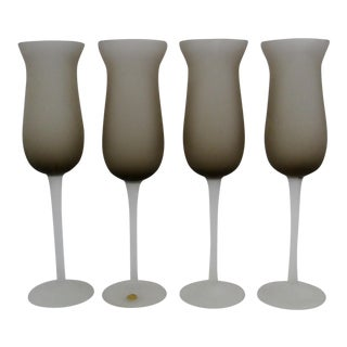 Murano Glass Stemware - Set of 4 For Sale