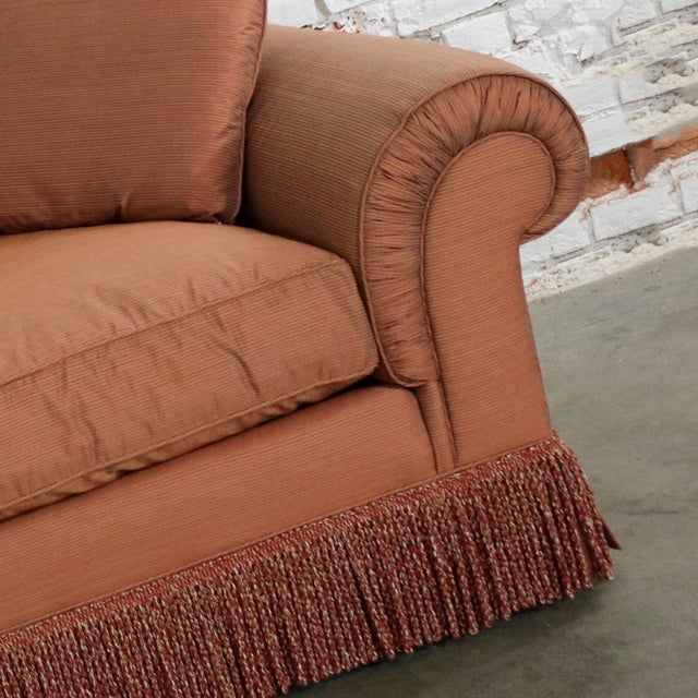 Wood Baker Sofa Lawson Style From the Crown and Tulip Collection Terracotta For Sale - Image 7 of 13