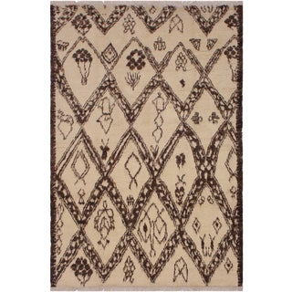 "Moroccan Giuseppi Wool Rug - 6' X 9'4"" For Sale"