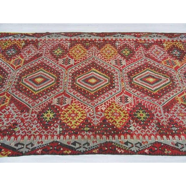 Vintage Turkish Kilim Rug - 5′10″ × 11′4″ For Sale - Image 4 of 6