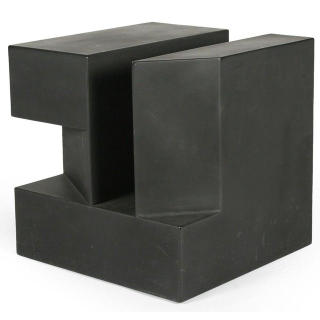 """Black Cube"" Aluminum Sculpture by Alfredo Halegua - Image 4 of 10"